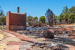Yarloop Town After the Fire: Railway Museum Royalty Free Stock Images