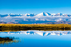 Yarlung River in Zhongba couinty, Tibet Royalty Free Stock Images