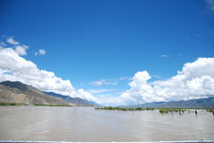 The Yarlung Zangbo River. This is the beauty of the Yarlung Zangbo River in Tibet Royalty Free Stock Images