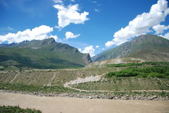 The Yarlung Zangbo River. This is the beauty of the Yarlung Zangbo River in Tibet Stock Photos