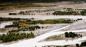 The yarlung zangbo river Royalty Free Stock Photo