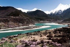 The Yarlung Zangbo River spring Stock Photos