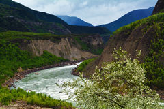 the Yarlung Zangbo River turn Royalty Free Stock Photography