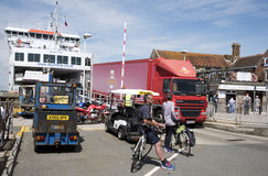 YARMOUTH HARBOUR ISLE OF WIGHT ENGLAND UK Royalty Free Stock Images