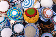 Yarmulke. A Kippah or Kipa or Yarmulke - is a hemispherical or platter-shaped cap, usually made of cloth, often worn by Religious Jewish men Stock Images