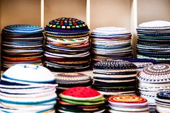 Yarmulke - traditional Jewish headwear, Israel. Stock Image