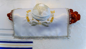 Yarmulke, Żydowskiego kierowniczego nakrycia baru Mitzhvah symbolu żydowski religijny challah Obraz Stock