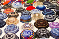 Yarmulkes collection royalty free stock images