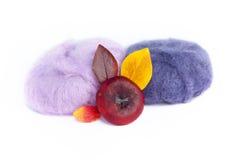 Yarn шарики и природа Стоковые Изображения RF