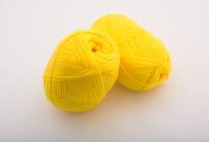 Yarn. Bundles of yarn on white background Stock Photography