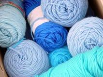 Yarn. Blue yarn Stock Image
