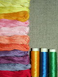 Yarn. Colorful yearns suitable as background Royalty Free Stock Photos