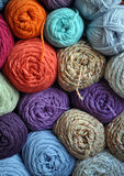 Stack of Yarn. A stack of skeins of yarn Royalty Free Stock Photography