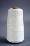 Yarn. Single yarn with grey background stock photo