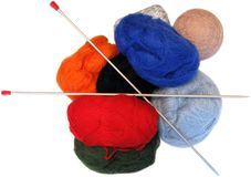 Yarn. Bright image of color yarn bobbins stock photos