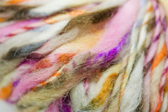 Yarn Background. Texture of multi-colored strands of yarn Royalty Free Stock Photos