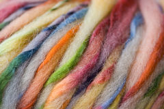 Yarn Background. Texture of multi-colored strands of yarn Royalty Free Stock Image