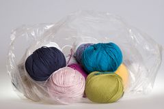 Yarn in bag Royalty Free Stock Images
