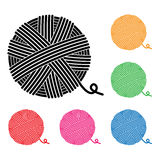 Vector yarn ball icons Stock Images