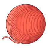 Yarn ball toy for cat icon, cartoon style Royalty Free Stock Photography