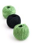 Yarn ball on white Stock Image