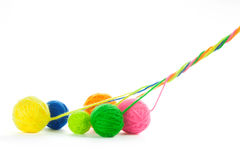 Yarn. Ball of yarn on white royalty free stock image