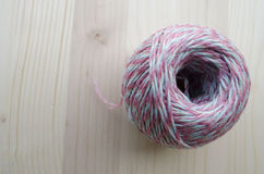 Yarn. Ball Yarn Of Wool, Spun yarn is a kind of yarn made by gathering together a bundle of staple by spinning Stock Photography