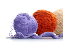 Yarn balls Stock Photo