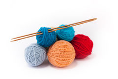 Yarn balls Stock Images
