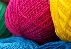 Yarn balls background Royalty Free Stock Images
