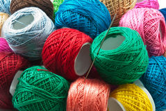 Yarn balls. Bright colored yarn balls for background use Royalty Free Stock Photos