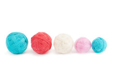 Yarn in balls. Isolation on a white background stock photo