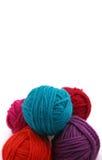 Yarn balls on white background. Yarn balls isolated on white background Royalty Free Stock Images
