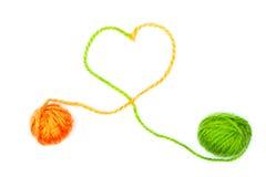 Yarn balls Stock Images