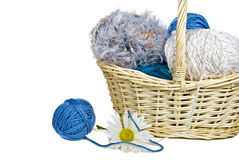 Yarn Basket Stock Images