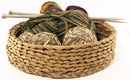 Yarn Basket Royalty Free Stock Photo