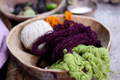 Yarn in bowl Stock Image