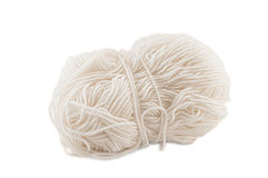 Yarn clew isolated on white Royalty Free Stock Photo