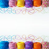 Yarn coils on white Royalty Free Stock Photos