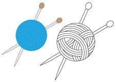 Yarn colorido e no preto com cores brancas Vetor ilustração do vetor