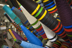 Yarn Cones in mix colors Stock Image