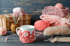 Yarn and craft items Royalty Free Stock Photo