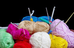 Yarn for crocheting Stock Photography