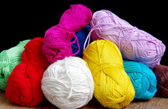 Yarn for crocheting Stock Images