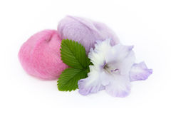Yarn and Gladiolus Royalty Free Stock Photos