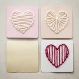 Yarn Hearts Royalty Free Stock Image