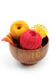 Yarn for knitting. Over white Royalty Free Stock Photo