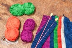 Yarn Knitting Royalty Free Stock Images