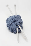 Yarn and knitting needles Stock Photo