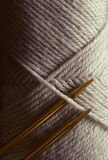 Yarn with knitting needles Royalty Free Stock Photography